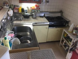 キッチン改修ビフォー