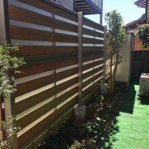 フェンス取付の工事