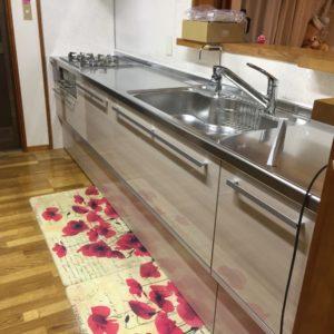 キッチンと洗面室の工事